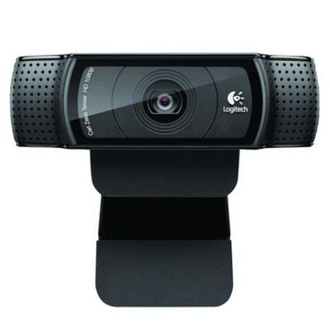 Logitech C920 Webcam, 15MP, HD 1080P, Mic, HD Video Calling, Auto light correction